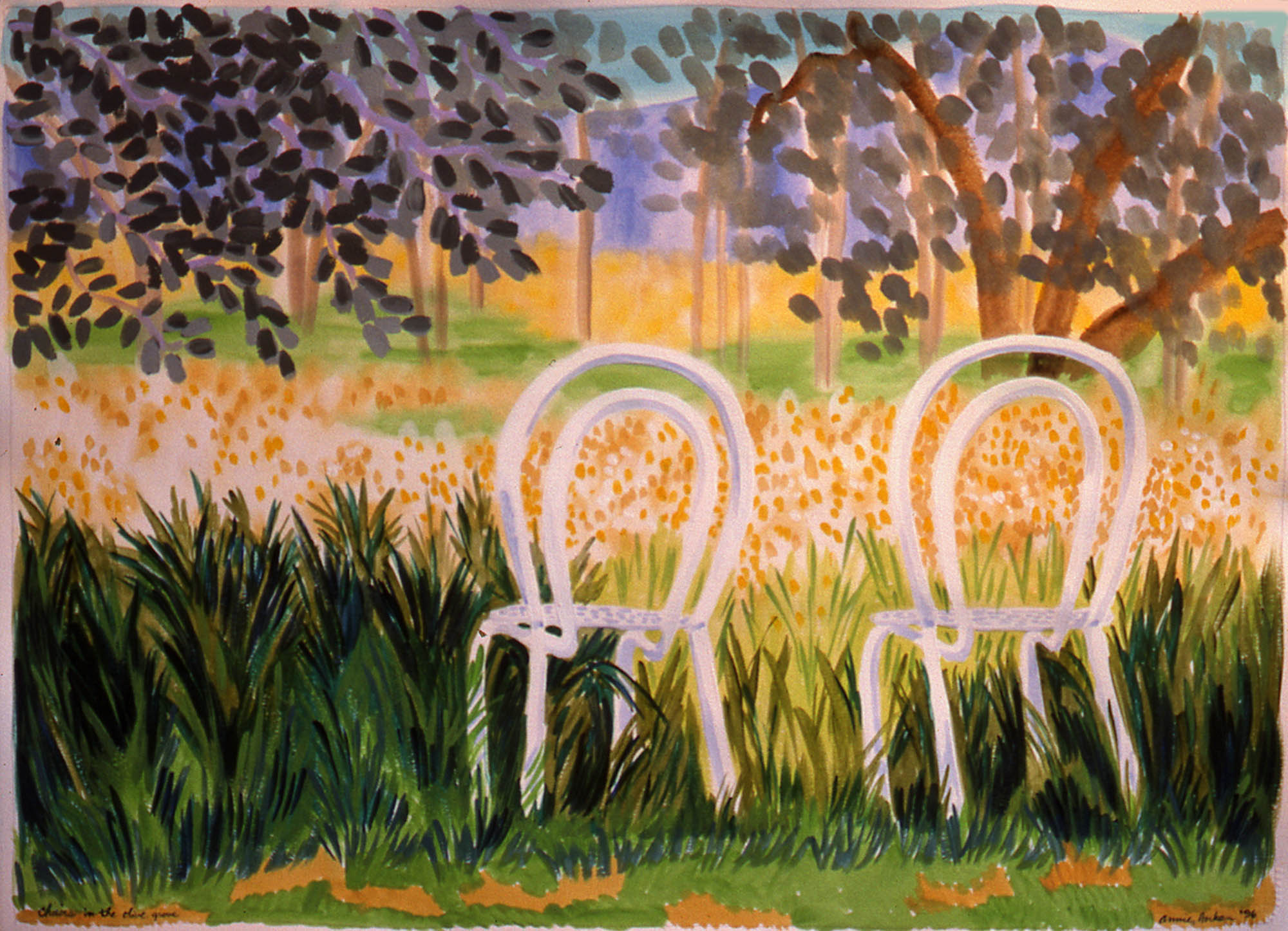 Chairs In The Olive Grove