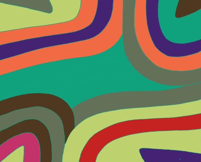 African Swirl/green