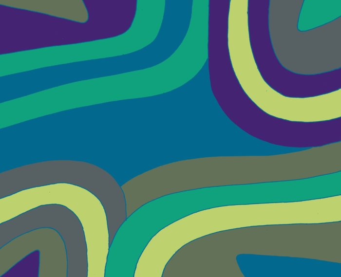 African Swirl/blue